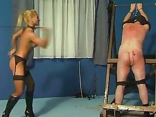Bdsm, Blonde, Caning, Femdom, Mistress, Spanking, Whip