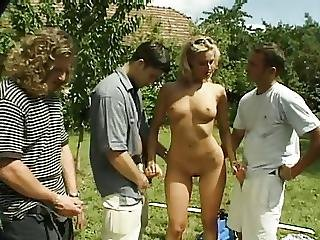 Anal, Blonde, Cage, Debauchery, Groupsex, Outdoor, Sex