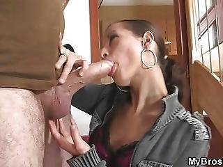Lusty Slut Seduces Not My Brother