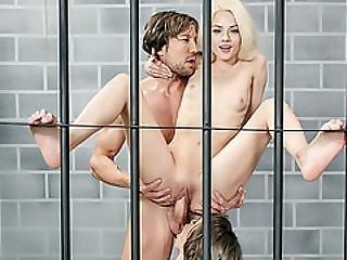Slutty Prisoner Gfs Alternately Fucked By The Police Guard