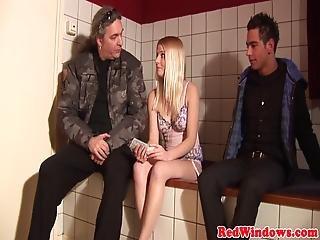 Real Amsterdam Prostitute Sprayed With Jizz