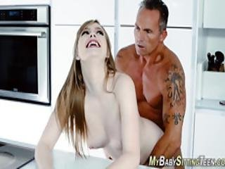 Teen Sitter Takes Old Rod