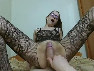 Pov Blowjob With Pussyjob In Fishnet Bodystockings