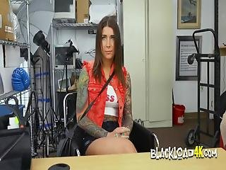 Beautiful Blue Eyed Babe Gets Her Cunt Expanded By Directors Big Black Cock