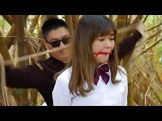 Outdoor asian bondage uniform
