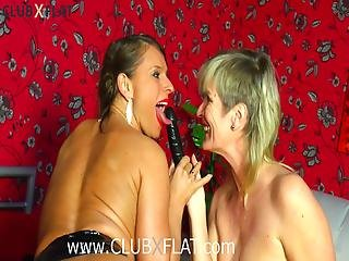 Clubxflat Lesbian Games With Strap-on