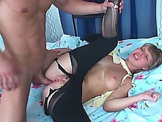 Anus Of Step Sis Rebeka Receives Cock Sideways