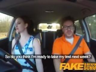 Fake Driving School pink nipples big tits redhead