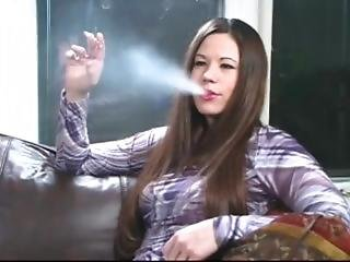 Smoking Fetish - Classic Brunette Nicolette Smokers Reds
