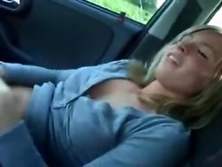 Blonde Whore Sucks Dick In Car
