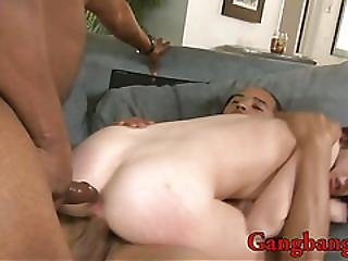 Slim Teen Double Nailed By Black Boners