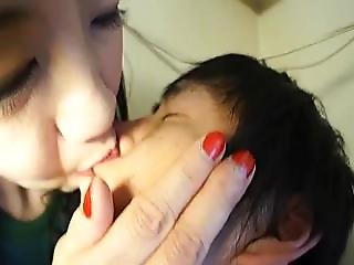Tall Asian Red Lips Kissing