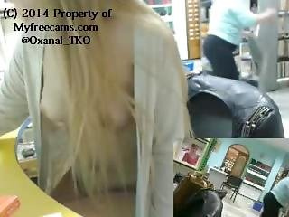 Oxana_tko Caught Flashing In Library Webcam