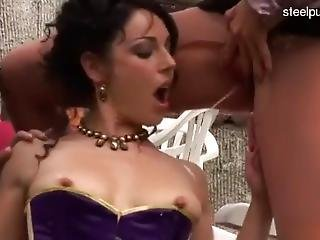 Hot Hot Lesbian Threesome