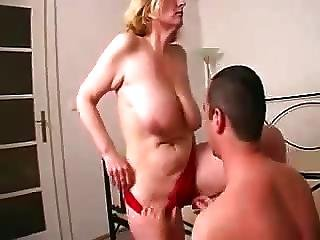 Mature With Nice Saggy Tits And Boy