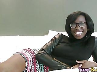 African, Ass, Black, Blowjob, Cum, Cum Covered, Ebony, Facial, Fucking, Glasses, Hardcore, Heels, Pov, Pussy