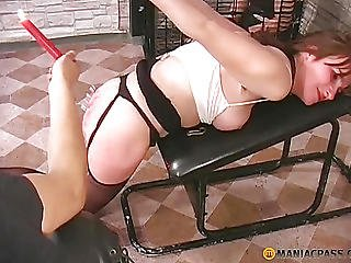 On Her Pink Ass Pours Hot Wax