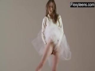 baletnica, blondynka, elastyczna, siłownia, solo, joga