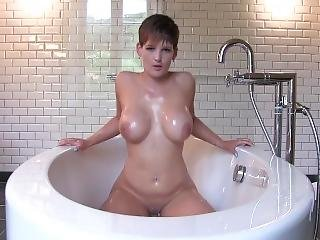 Naughty Bath Time Dildo Fuck Xxx