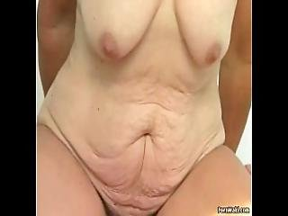 Hairy Granny Pussy Filled With Younger Dick