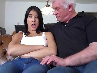 Schoolgirl Fucked At Home By Horny Old Man The Teen Gets Facial Cumshot