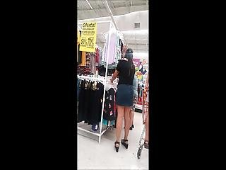 Voyeur Milf In Miniskirt