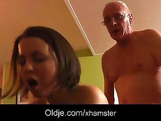Old Geezer Has Sex With Cutie Teenie