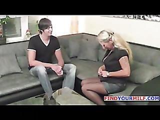German 46yr Old Milf Seduce 18yr Old Big Dick Boy To Fuck
