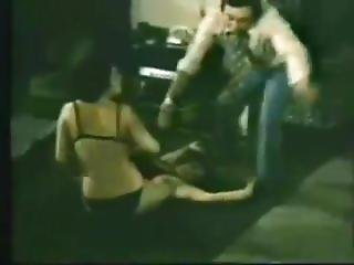 Classic Catfights-stripdown And Wrestle In Lingerie Scene