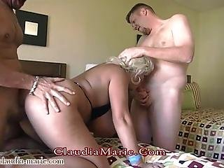 Claudia Marie Has Her Huge Saggy Tits Worked Hard As Several Different Men Use Her Soft Body And Nail Her With Cumshots