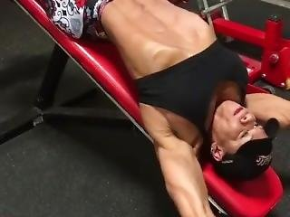 amateur, sexy, training, arbeitsplatz