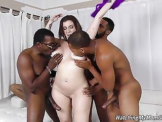 Busty Mother Sara Jay Fucked By Several Black Not Her Sons