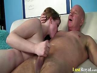 blowjob, brunette, sperm, sperm spising, deepthroat, hatt, barbert
