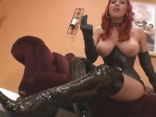 Leather Girl Humiliation Joi