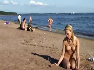 Spiaggia, Nudisti, Adolescente, Giovane