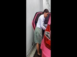 Student Pink Car Boso