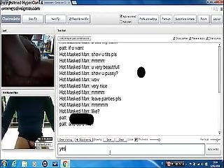 Hot Masked Man And Hairy Pussy Girl On Chatroulette