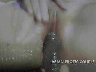 Extreme Dildo In Wet Pussy Slow Motion Scene