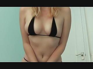 Sexy Model - Awh - Micro Black Bikini
