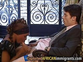 Delicate African Teen Is Getting Her Wet Holes Ravaged By A Government Official