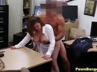 Pawn Shop Porn-big Boobs Mom Spreads Her Legs For Cash
