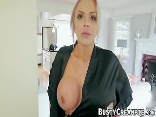 Milf With Huge Ass Is More Than Willing To Take Young Cock In Her Warm Mouth Before Taking It Brutally In Her Wet Pussy