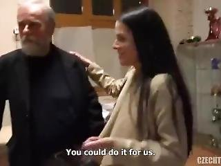 Lucky Grandpa Fucked By Twins