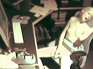 Spy At Desk Masturbating1
