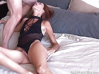 Sexy Slim Old Spunker Masturbates And Fucks The Cameraman