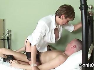 Unfaithful British Mature Gill Ellis Shows Her Oversized Breasts