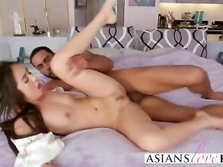 Asian Babe Mila Gets Ass Filled By Black Dong
