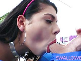Swallowed - This Girl Must Be Out Of Her Mind Because She Sucks It Dirty