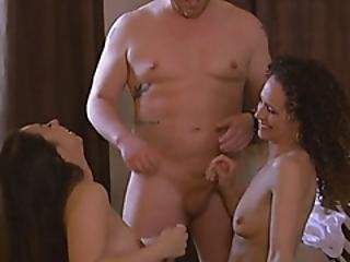 Hot Swinger Chicks Sharing A Firm Dick For Fun