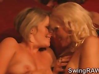 Blonde Hotties Swap Their Men In A Wild Swingers Orgy
